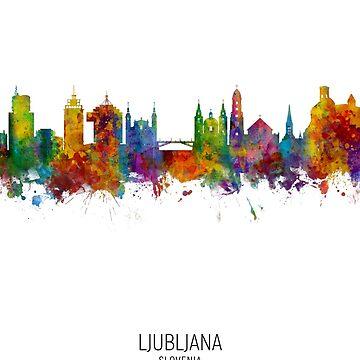 Ljubljana Eslovenia Skyline de ArtPrints