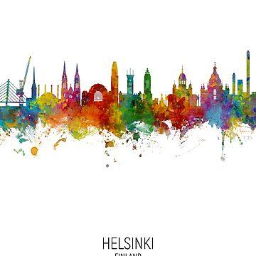 Horizonte de Helsinki Finlandia de ArtPrints
