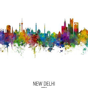 Horizonte de Nueva Delhi, India de ArtPrints