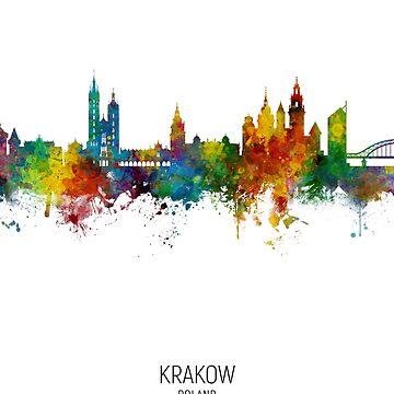 Cracovia Polonia Skyline de ArtPrints