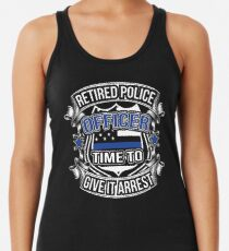 c2e472c1bca24 Retired Police Officer Thin Blue Line Gift Law Enforcement Cop Women s Tank  Top