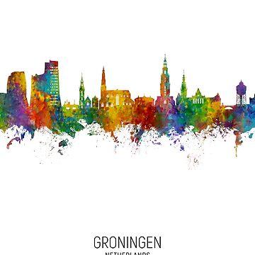 Groningen Países Bajos Skyline de ArtPrints
