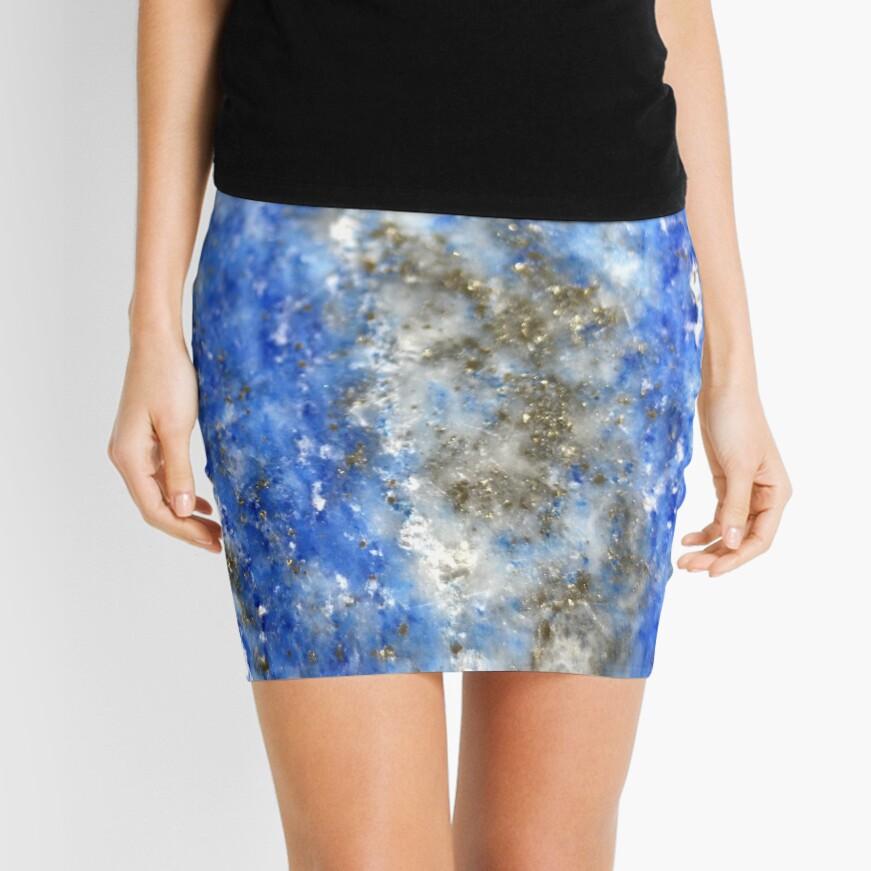 Lapis Lazuli Mini Skirt