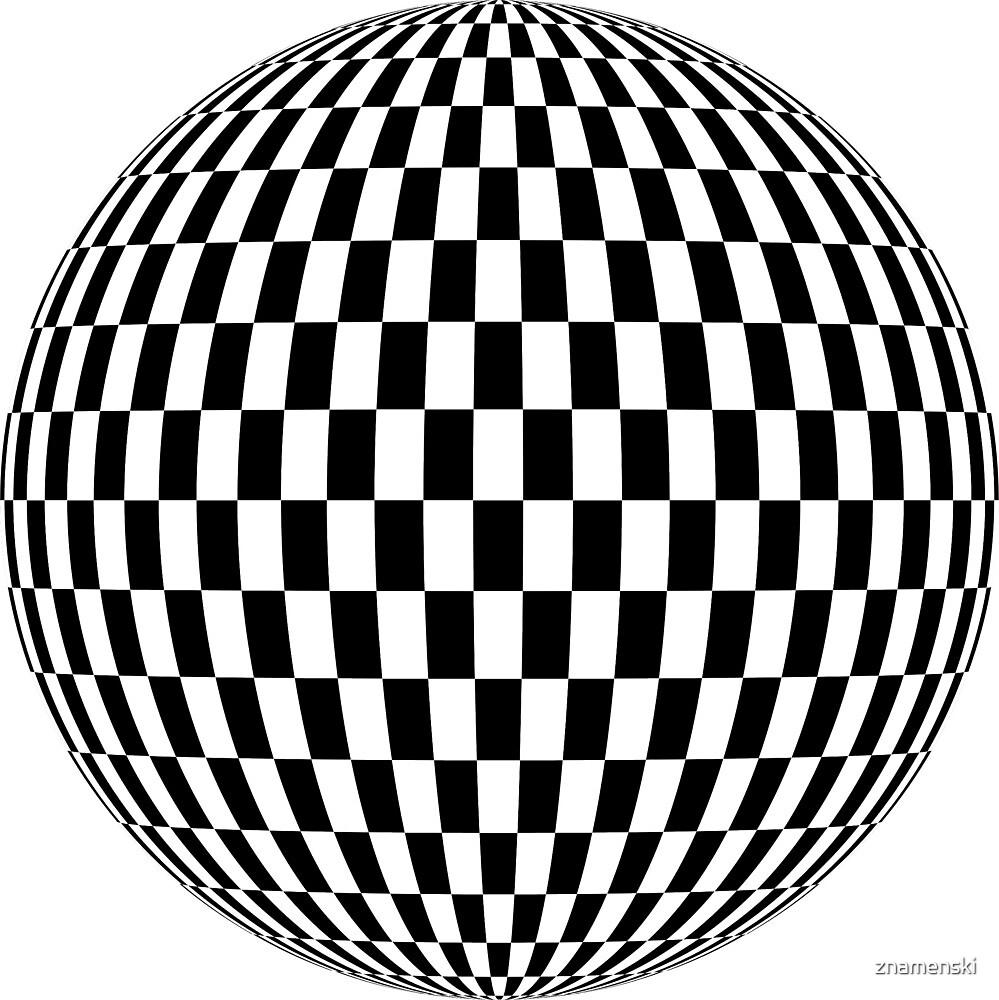 Sphere, illustration, design, ball, vector, shape, black and white, monochrome by znamenski