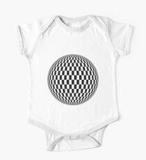 Sphere, illustration, design, ball, vector, shape, black and white, monochrome One Piece - Short Sleeve