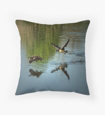 Look! I am flying! Throw Pillow