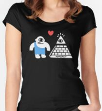 Adorable Conspiracy Theory Women's Fitted Scoop T-Shirt