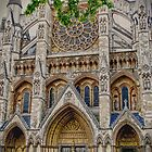 The North Entrance to Westminster Abbey - London, England by Kent Burton