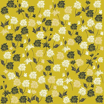 Chinoiserie pattern with flowers by kapotka