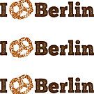 I love Berlin - brown pretzel by XOOXOO