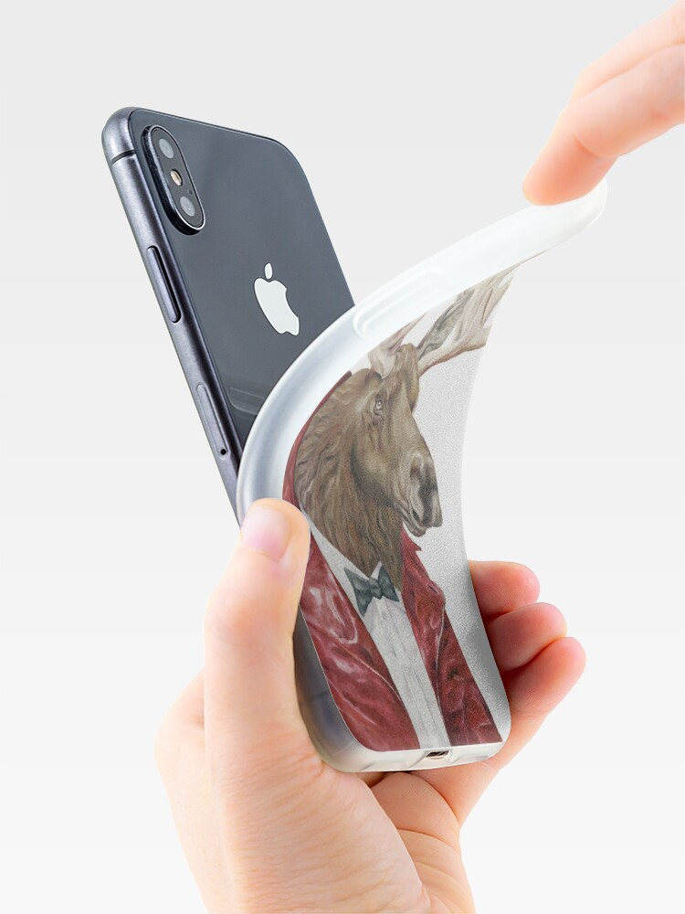 Alternate view of Moose in Leather iPhone Case & Cover