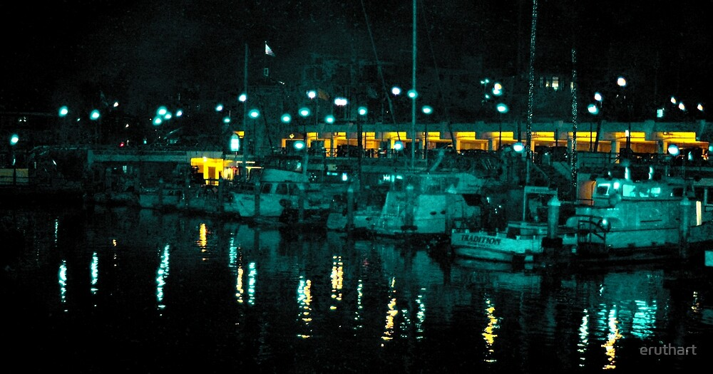 Redondo Beach Harbor at Night 0907 by eruthart