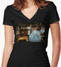 Barber - Portable music player 1921 Women's Fitted V-Neck T-Shirt