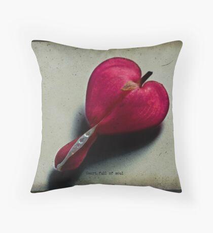 Heart full of soul Throw Pillow