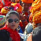 The Beautiful Young Girl and the Colors of Rajasthan by Mukesh Srivastava