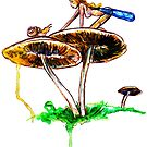 Mushroom Fairy 4 by Beau Singer