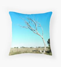 galah in tree Throw Pillow