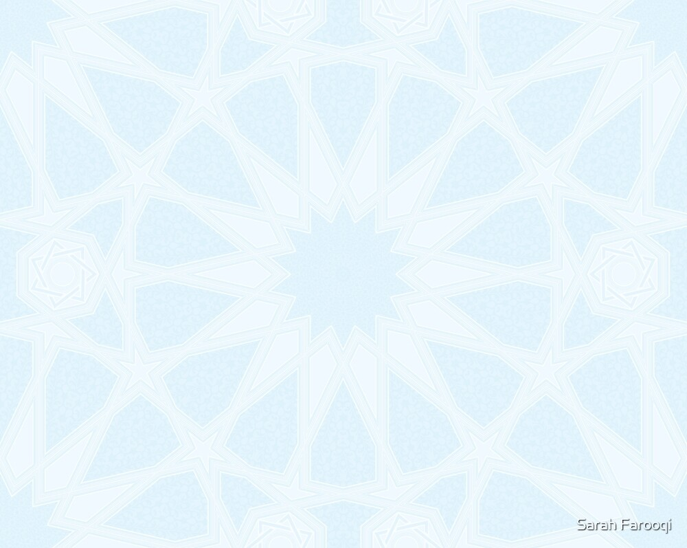 Ice Blue Mudejar by Sarah Farooqi