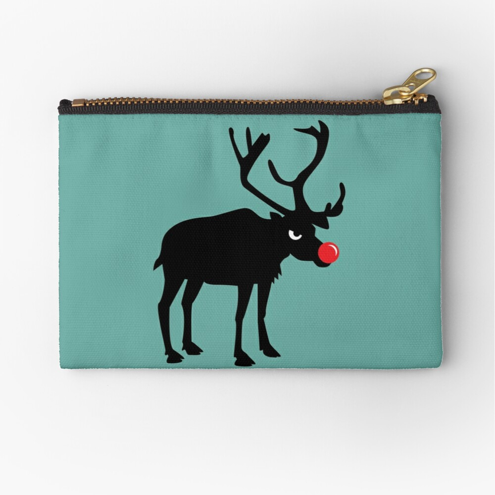 Angry Animals: Rudolph the red nosed Reindeer Zipper Pouch