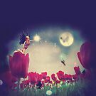Fee und Tulpen von AnnArtshock