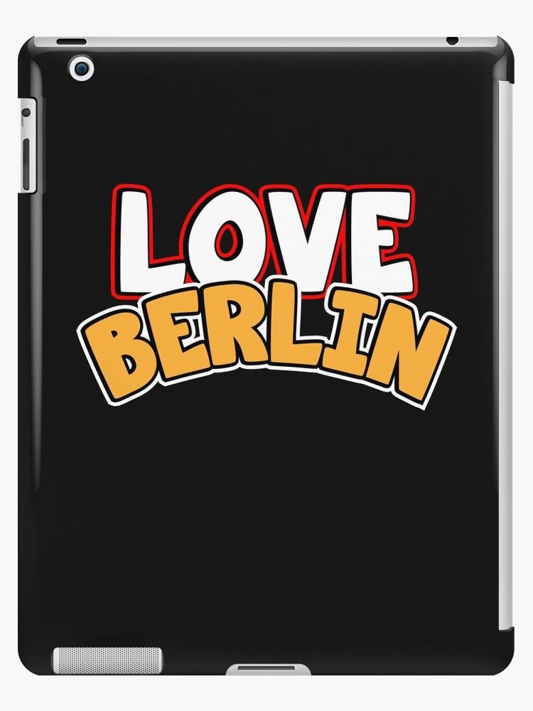 Love Berlin. Ich liebe Berlin. Love Motiv Geschenk von dm4design