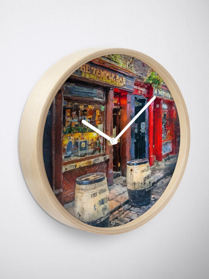 Alternate view of Dublin art #dublin Clock