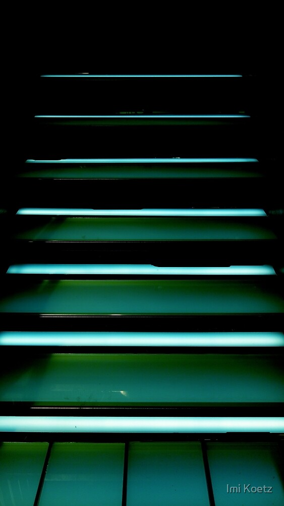 The illuminated Stairs in a Department Store........ by Imi Koetz