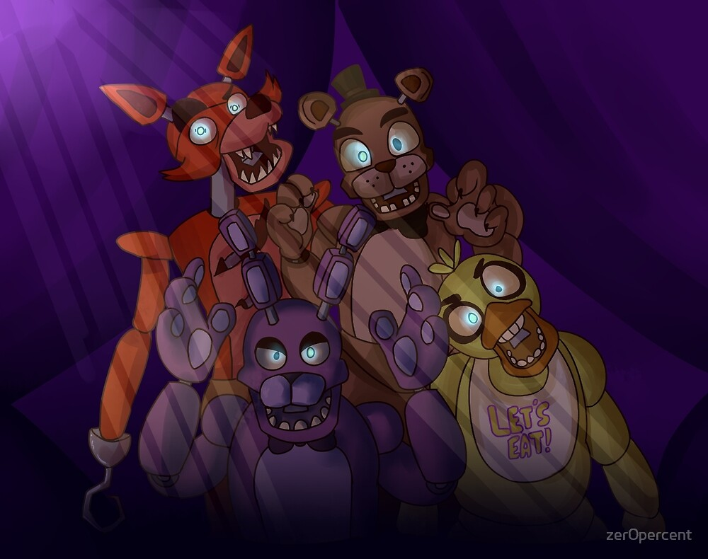 five nights at freddys! by zer0percent
