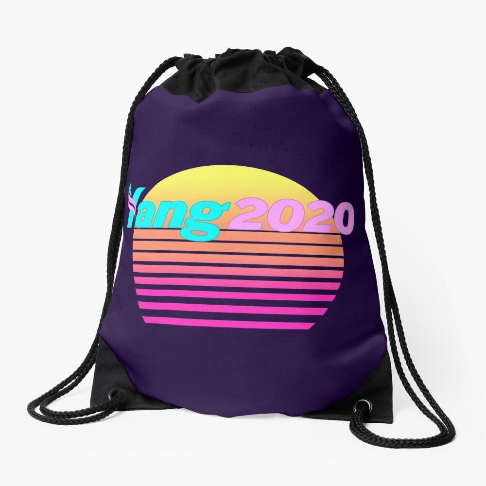 Aesthetic Yang 2020 Vaporwave Drawstring Bag