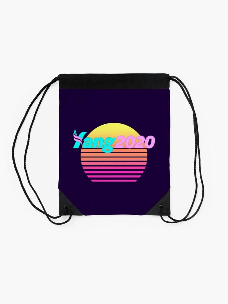 Alternate view of Aesthetic Yang 2020 Vaporwave Drawstring Bag