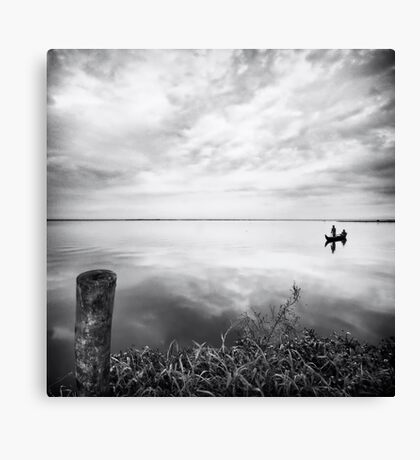 Grassy Glassy Lake Canvas Print