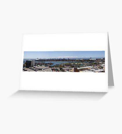 Long Beach California Pano 2005 Greeting Card