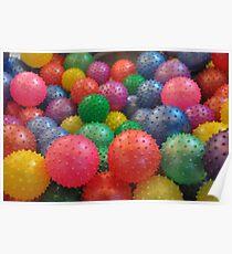 Color Rubber Balls Poster
