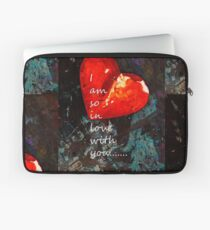 Funda para portátil So In Love With You - Romantic Red Heart Painting