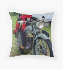 Scarecrow on the Bike Throw Pillow