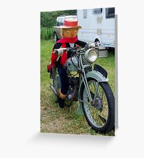 Scarecrow on the Bike Greeting Card