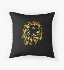 Cojín de suelo León león cabeza silueta león león melena león
