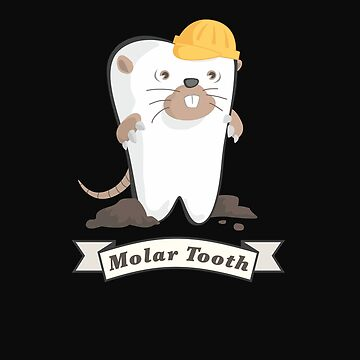 Funny Molar Tooth Dentist Dental Hygienist Gifts Teeth  by Essetino
