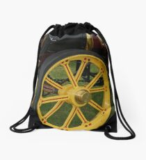 Traction Engine Front Wheel Drawstring Bag