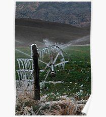 Icy Fields - Utah Highway 89 Poster