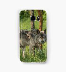 Timber wolf in summer Samsung Galaxy Case/Skin