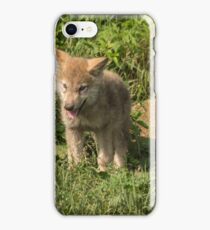Timber wolf pup iPhone Case/Skin