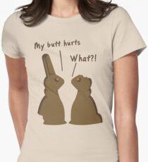 Funny Bitten Chocolate Bunnies T Shirt Women's Fitted T-Shirt
