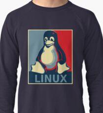 Linux tux penguin obama poster Lightweight Sweatshirt