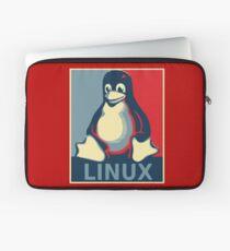 Linux tux penguin obama poster Laptop Sleeve