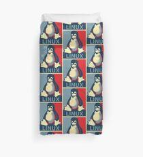 Linux-Tux-Pinguin Obama-Plakat Bettbezug