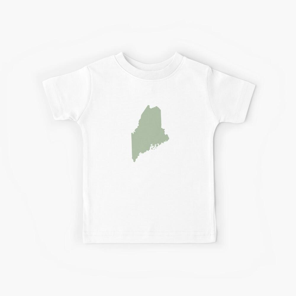 Maine Love in Sage Kids T-Shirt