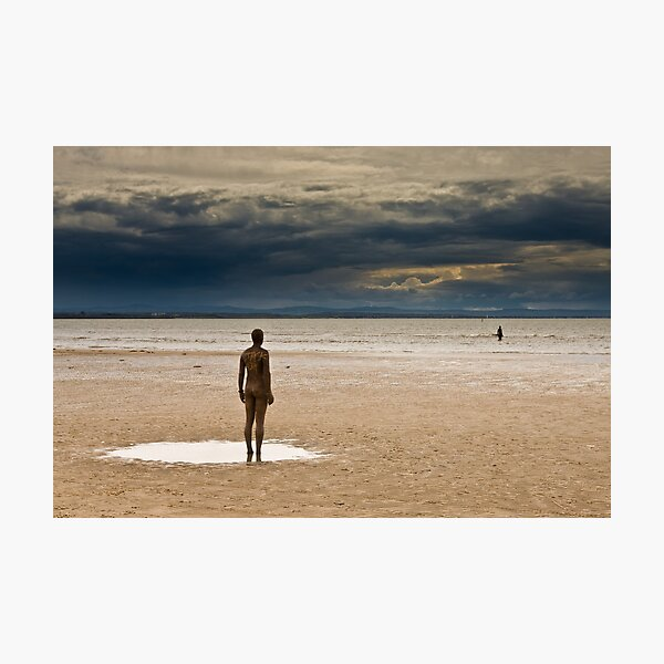 Crosby Beach - Anthony Gormley Statues  Photographic Print
