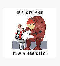 Mass Effect - Wrex and Mordin Photographic Print