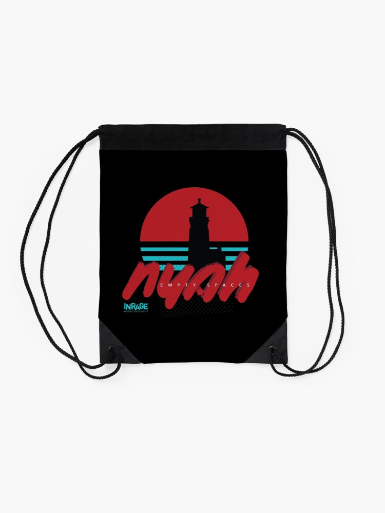 Alternate view of Nyah — Empty Spaces x Florence, OR Drawstring Bag